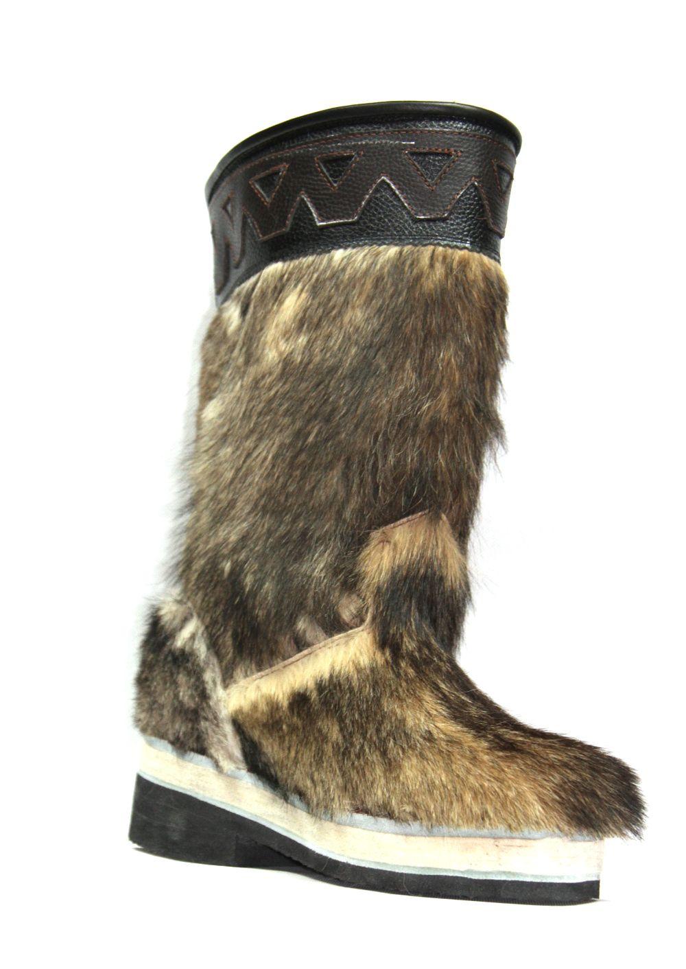 Mongolian Stallion Fur Boots di 2020