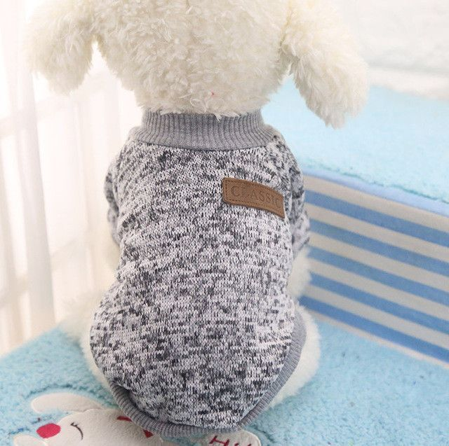Classic Warm Dog Clothes Puppy Pet Cat Jacket Coat Winter Fashion Soft Sweater Clothing For Chihuahua
