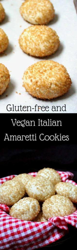 Glutenfree and Vegan Italian Amaretti Cookies Vegan and gluten-free Italian Amaretti Cookies, soft, airy, chewy and perfectly delicious treats for your holiday cookie platter.