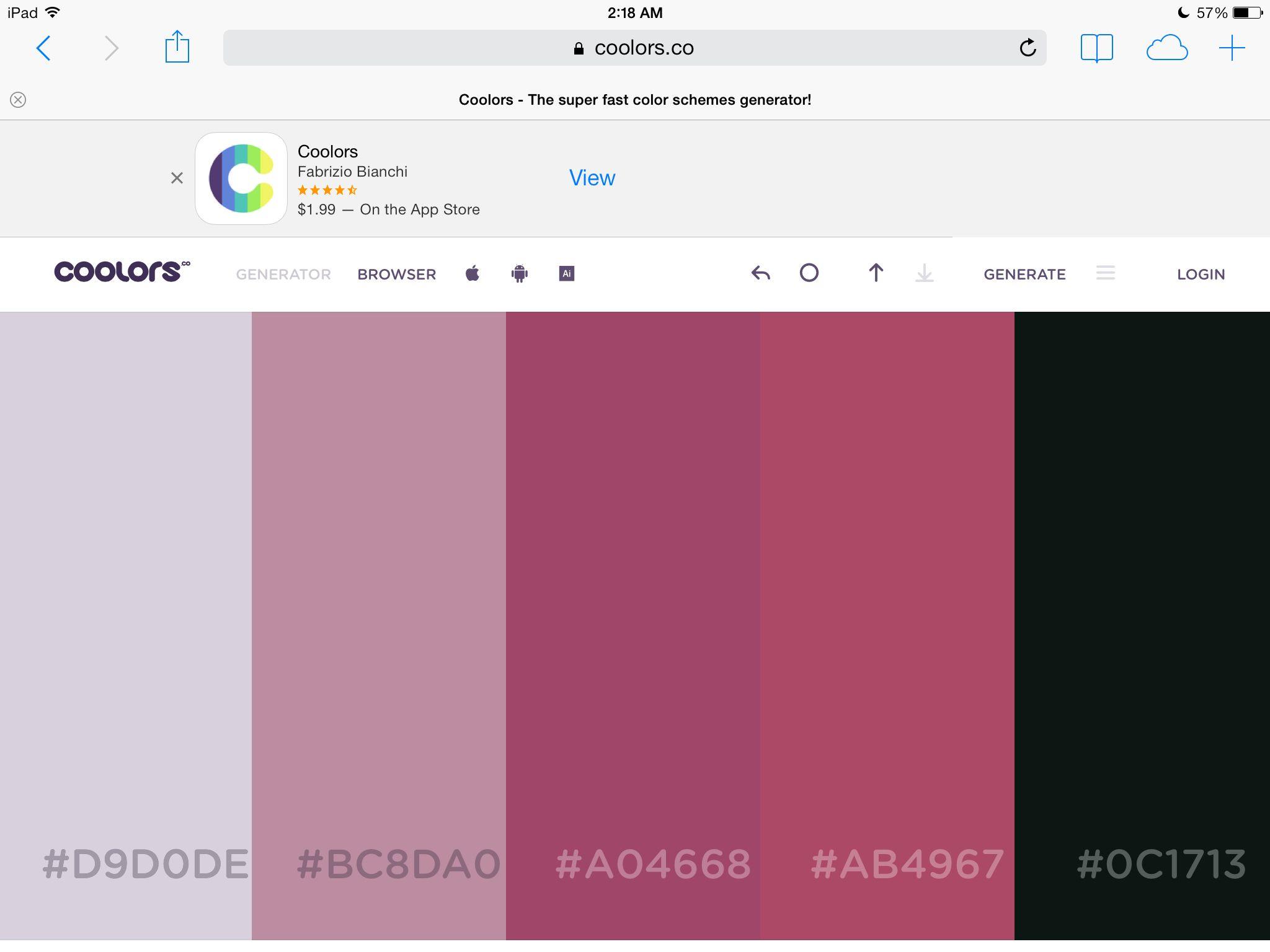 Random color scheme | Color schemes | Pinterest