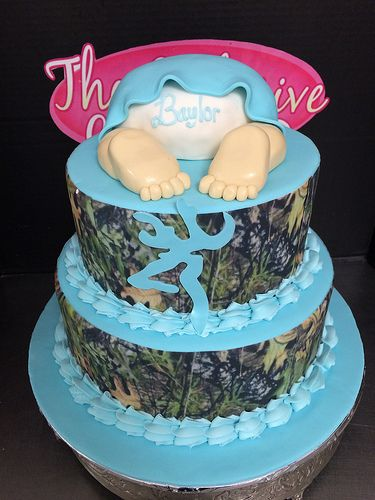 Camouflage Baby Shower Cake With Images Camouflage Baby Shower