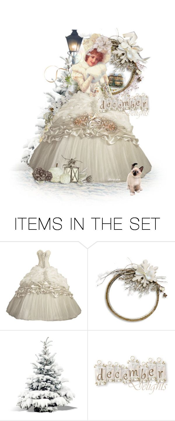 """December Delights ❤️for Beverly"" by ultracake ❤ liked on Polyvore featuring art, dolls, victorian, holiday, friend and ultracake"