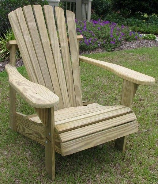 Weathercraft Pressure Treated Natural Unfinished Adirondack Chair Pine Reviews Goedekers Com Wood Adirondack Chairs Adirondack Chair Patio Chairs