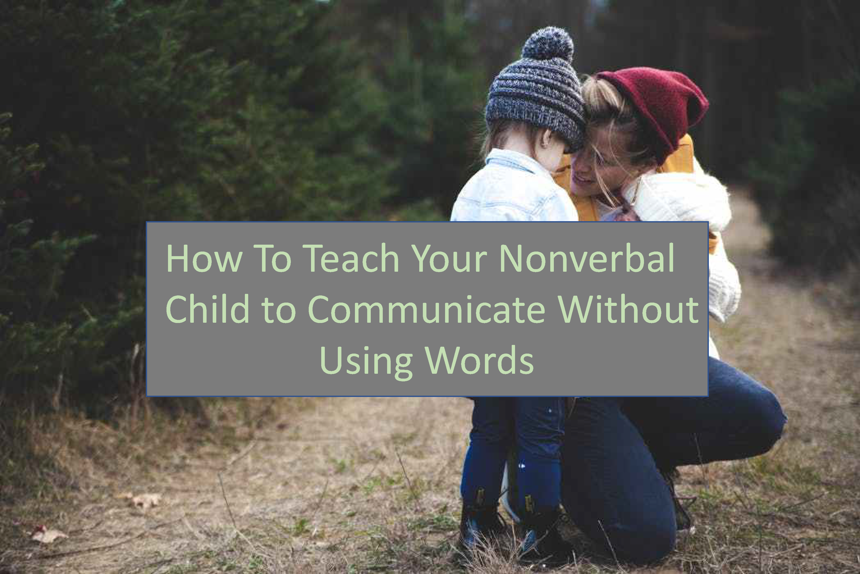 Is Your Child Nonverbal Not Talking Yet And Is Having