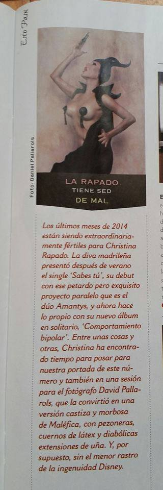 "CHRISTINA RAPADO - Revista ""Primera Línea"" (Físico) - Número 356 / Diciembre 2014"
