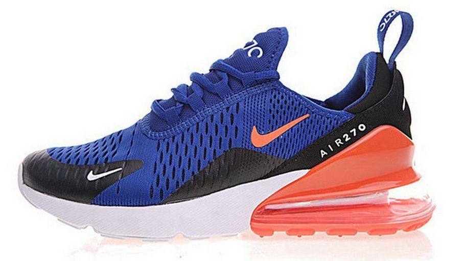 3ef15c963253f Nike Air Max 270 Flyknit Deep Blue Orange Ah8050 460 | www ...