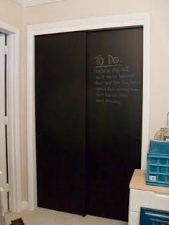 Chalkboard Doors The Finale Door Makeover Diy Closet Door Makeover Closet Bedroom