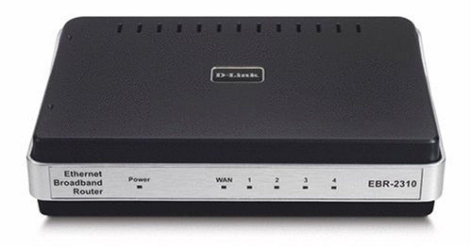 D-Link EBR-2310 4-Port 10/100 Wired Ethernet Broadband Router Sealed ...