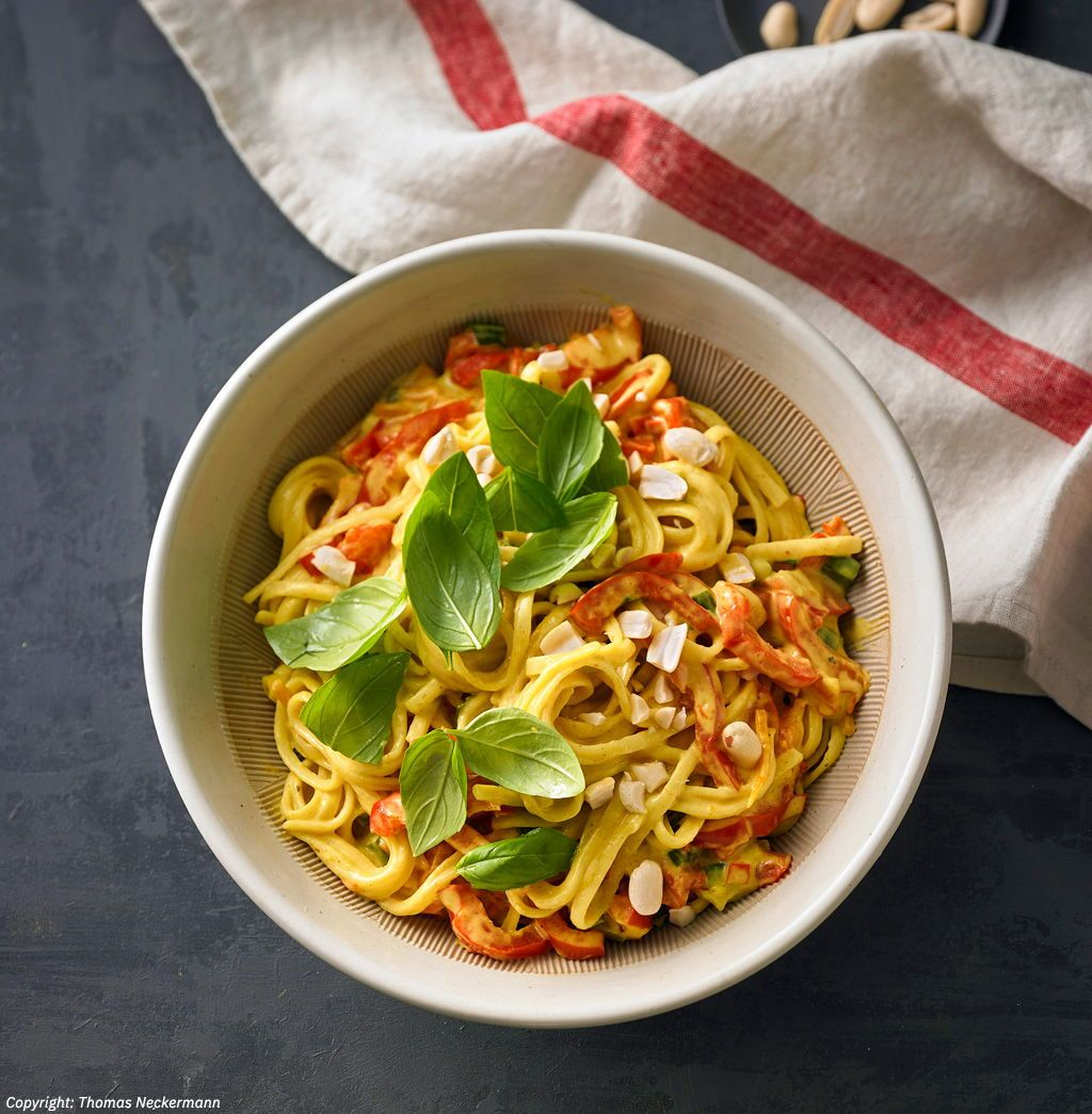 One Pot Pasta-Kokosmilch-Curry #cookiesalad