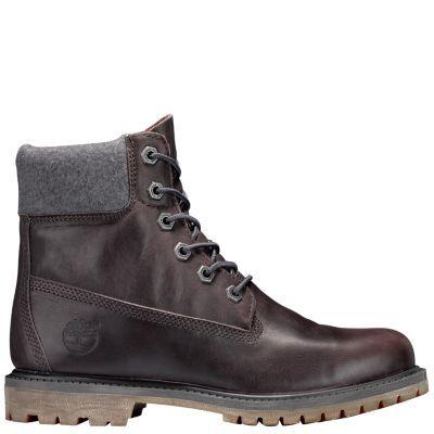 4fa689e50dcd1b Timberland Women s 6-Inch Premium Waterproof Boots (Dark Grey Full-Grain)