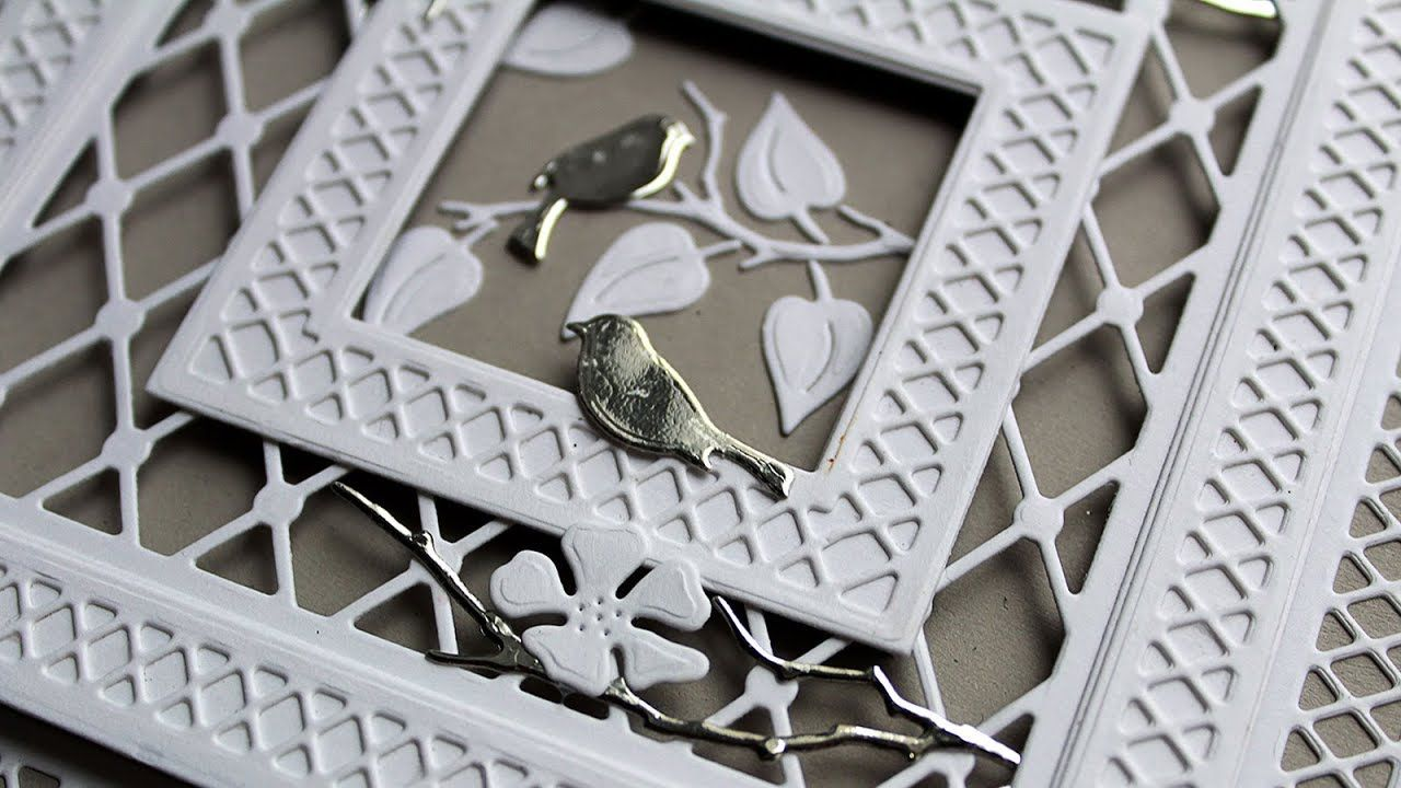 Garden Lattice Window Card Featuring Paper Discovery Dies