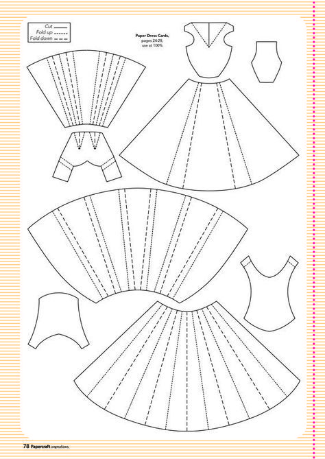 gabarit robe helpful hints pinterest paper dress card and