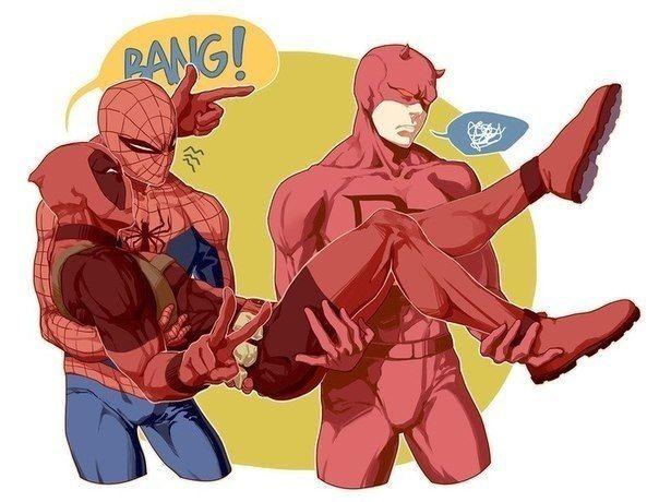 Человек паук и Дэдпул – 668 фотографий | Фан арт, Комиксы ...