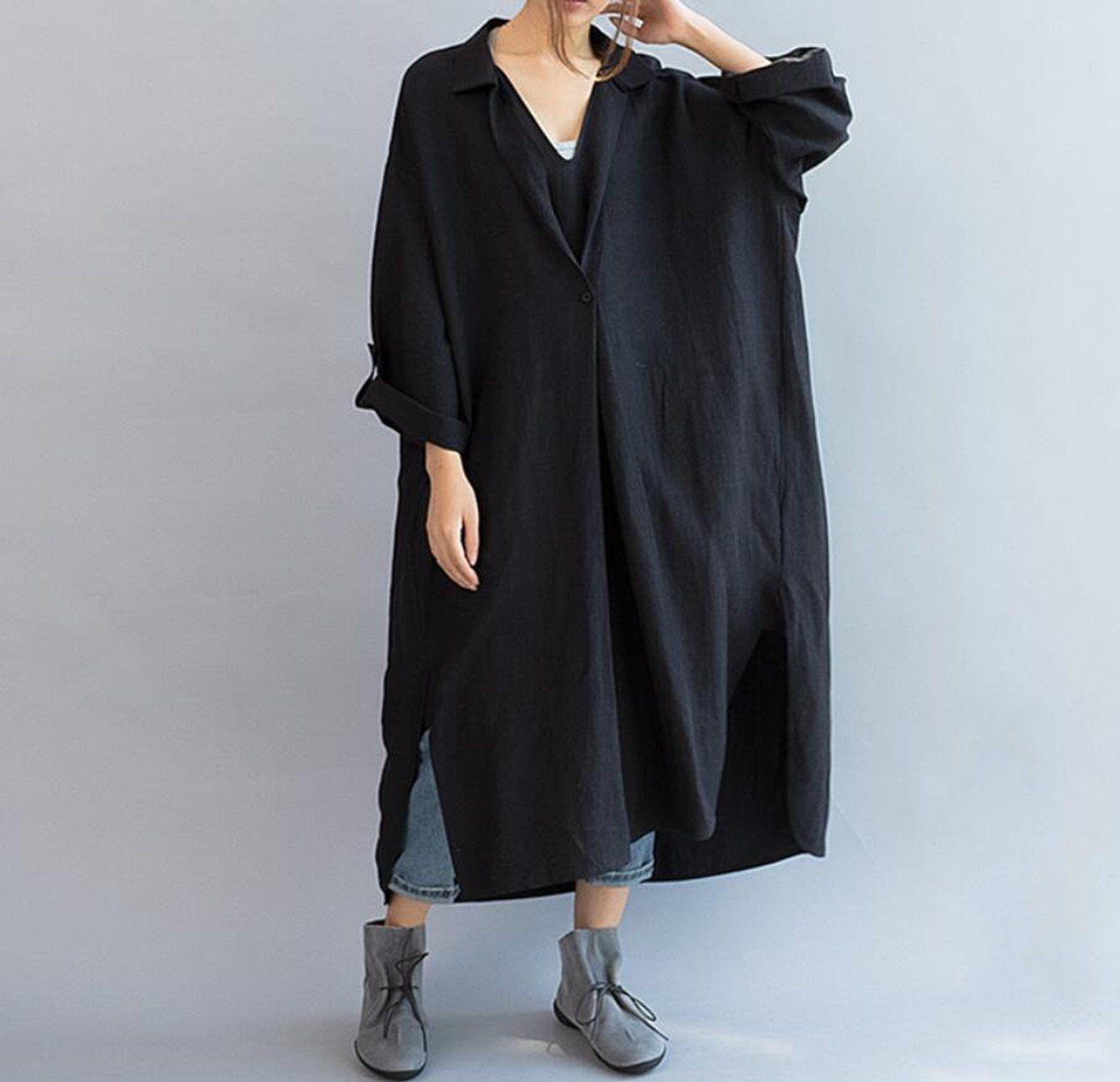 Womens Dresses Linen Cotton Dress Loose Fitting Maxi Dress Etsy Fashion Long Linen Dress Linen Casual [ 1535 x 1588 Pixel ]
