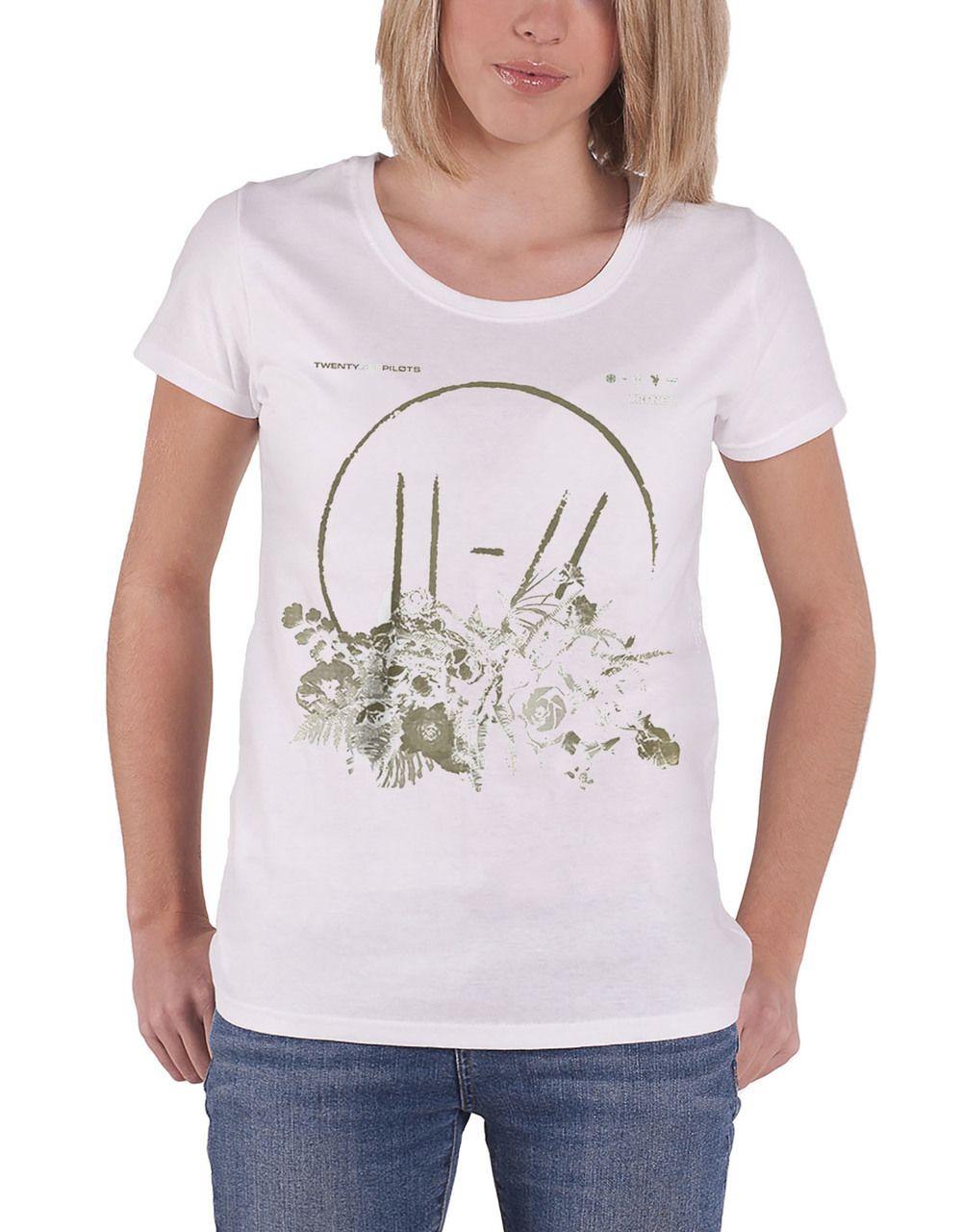 a1e7beb1b Twenty One Pilots T Shirt Trench Flower Bed Womens White - Paradiso Clothing