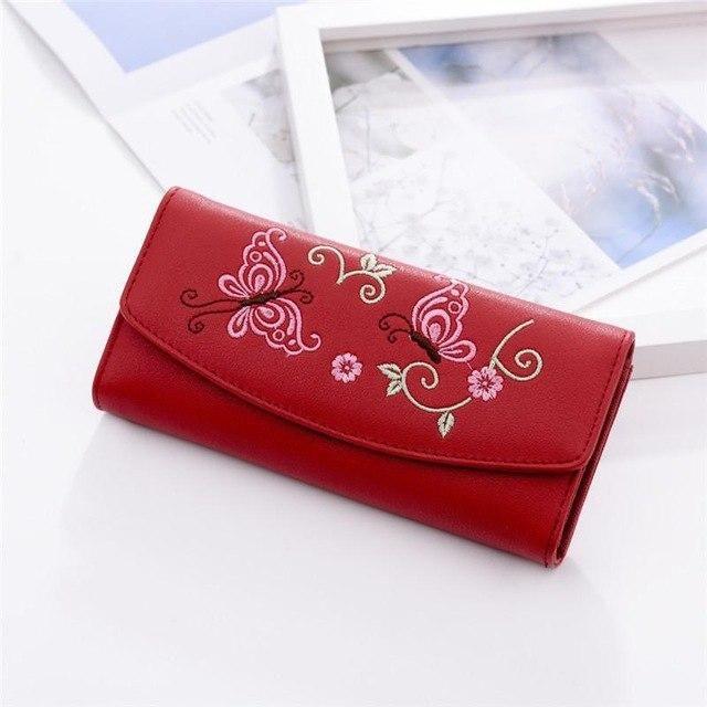 92707cb1d232 Long Wallet Women Purses Tassel Fashion Coin Purse Card Holder ...