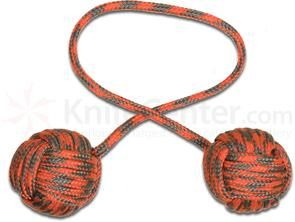 Monkey Fist Begleri KnifeCenter Exclusive 5 inch Orange Gray Paracord 9eb2ab493