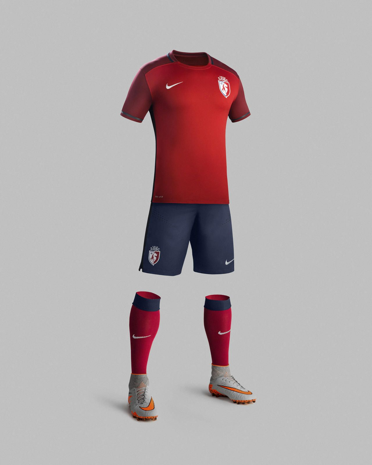 Nike News - Modern Design Brings a Fresh Aesthetic to Classic Colors for Lille  OSC 2015-16 Home Kit 36aa10fce8b4a