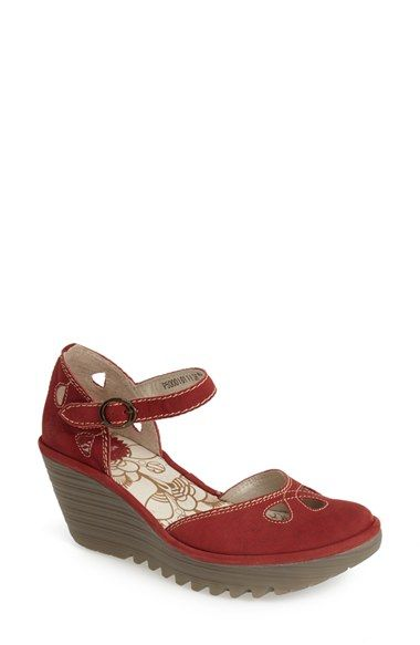 ceeb38ffc3713 Women's Fly London 'Yuna' Leather Ankle Strap Wedge Sandal ...