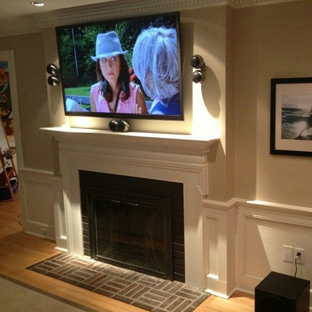 Pin by MantelMount on TV The Fireplace Pinterest