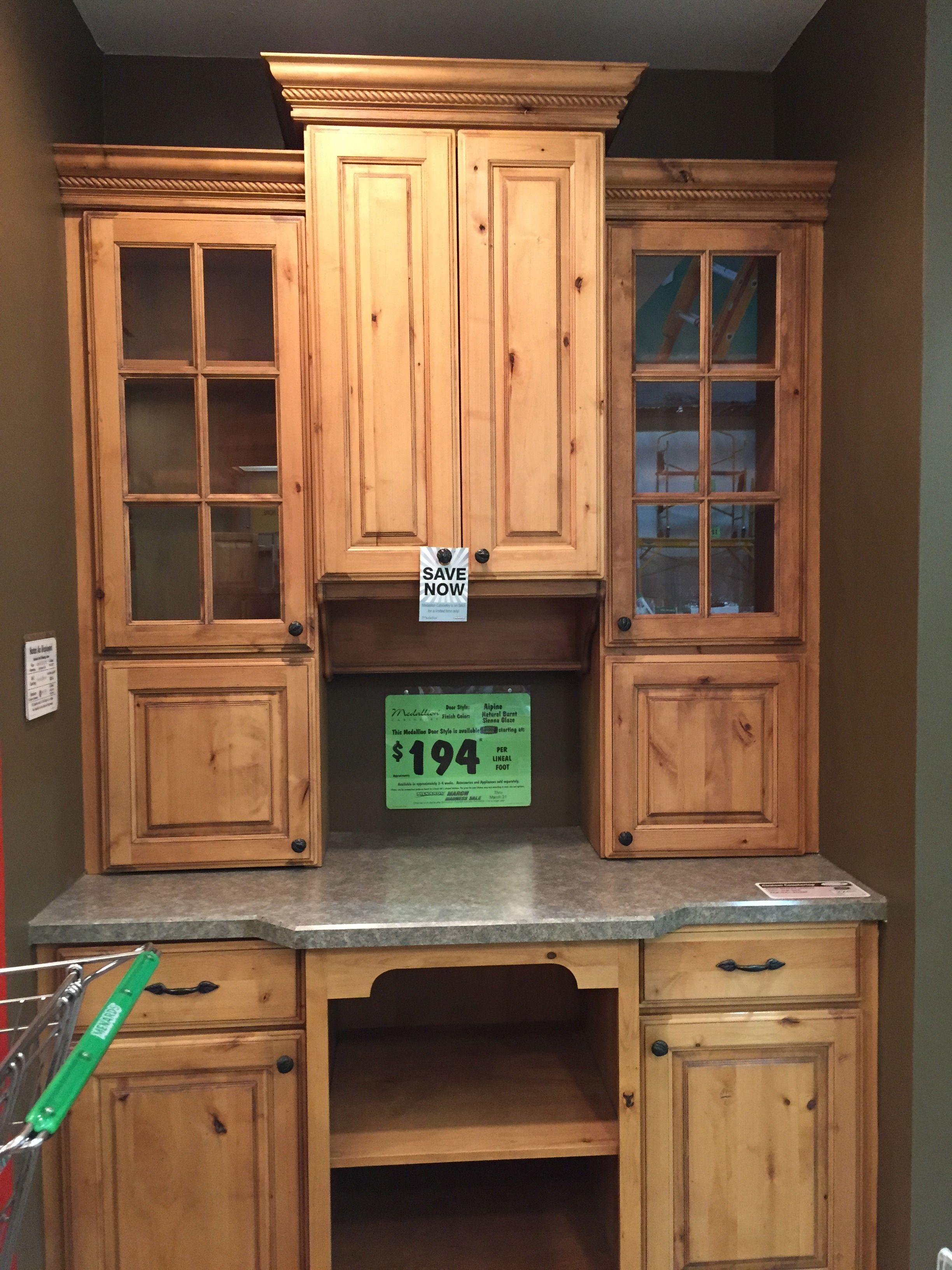 Menards Kitchen Cabinet Doors Medallion Alpine Natural Burnt Sienna Glaze At Menards Kitchen