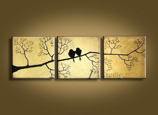 MODERN ABSTRACT HAND DRAWING CANVAS ART WALL DECOR OIL PAINTING ...