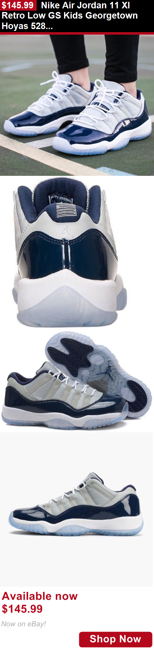 f02476c94b376c Children boys clothing shoes and accessories  Nike Air Jordan 11 Xi Retro  Low Gs Kids Georgetown Hoyas 528896-007 Sz 7Y BUY IT NOW ONLY   145.99
