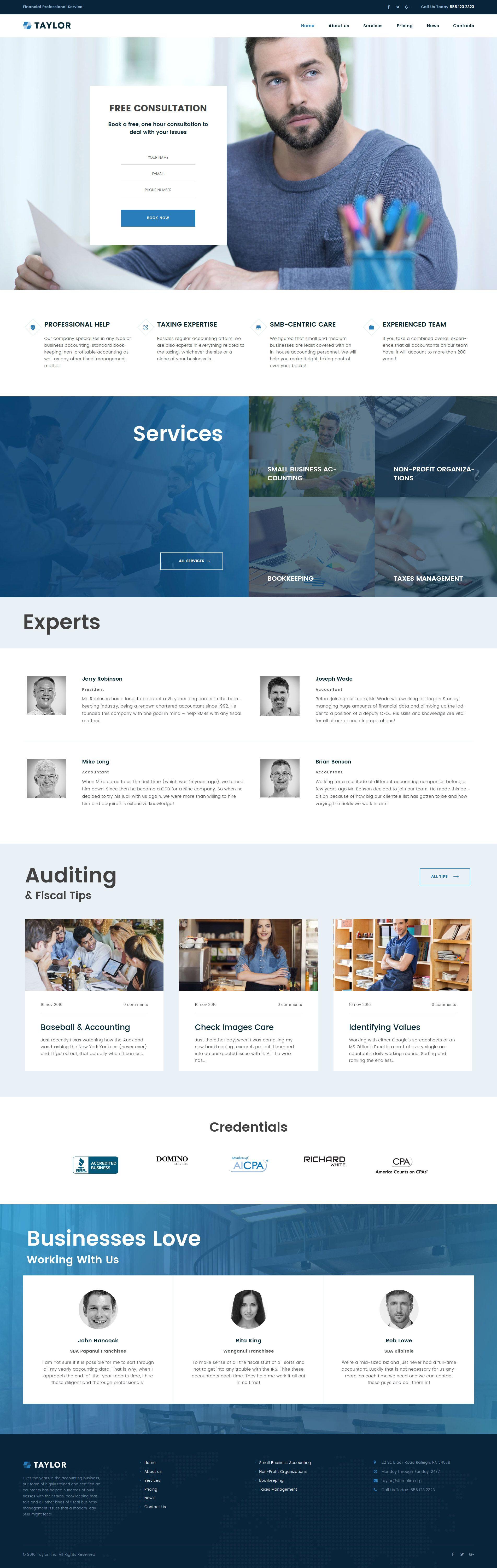 Taylor - Financial Accounting WordPress Theme - https://www ...