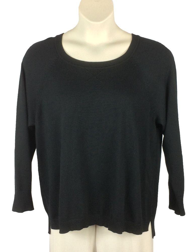 46cd07bb110 Womens Dressbarn Black Sweater Plus Size 1X Long Sleeve Rayon Polyester  Blend  Dressbarn  LongSleeve