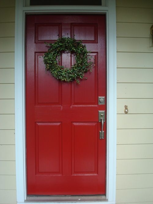 My New Red Door Benjamin Moore Front Doors And Doors