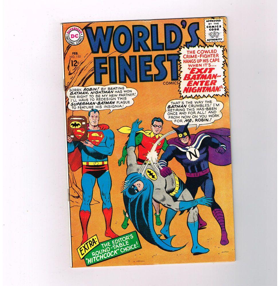 WORLDS FINEST #155 Grade 8.0 Silver Age DC! Great Curt Swan cover art!  http://www.ebay.com/itm/WORLDS-FINEST-155-Grade-8-0-Silver-Age-DC-Great-Curt-Swan-cover-art-/301481119407?roken=cUgayN&soutkn=D1FlEt