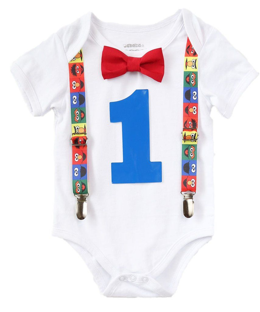 17959dc4f sesame street first birthday outfit boy - baby boy elmo party - sesame  street birthday outfit - boys first birthday outfit - 1st birthday