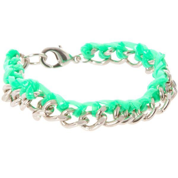 Asos Chain And Gummy Bracelet via Polyvore
