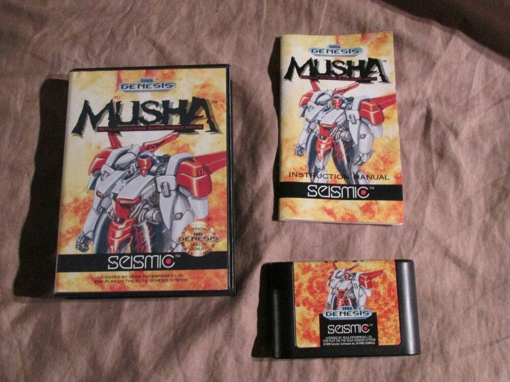 M U S H A Musha Sega Genesis 1990 Complete Cib Sega Genesis Retro Video Games Genesis