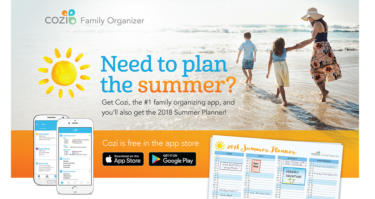 Map out your summer with Cozi! Organize all your vacation