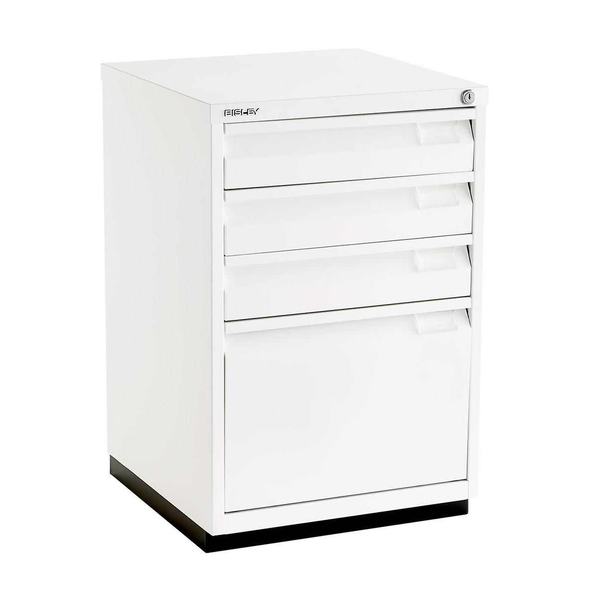 Bisley White Premium 4 Drawer Locking Filing Cabinet Filing