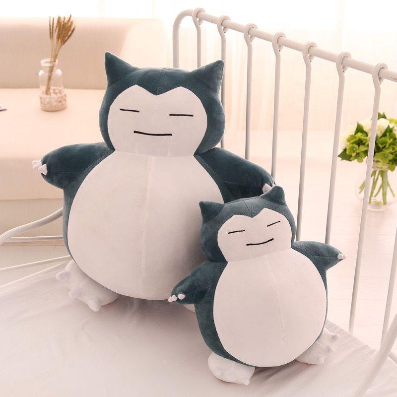 Cute Big Snorlax Anime Plush Toys Lovely Cartoon Japanese Soft