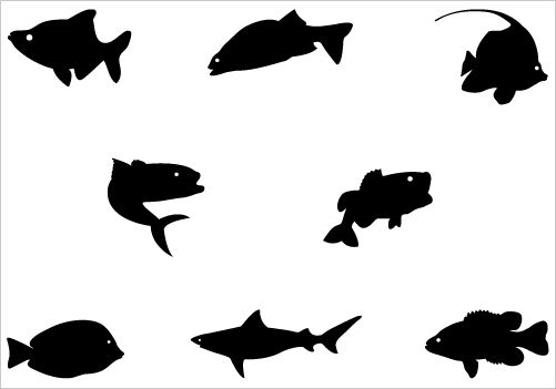 Fish Silhouette Vector Graphics In This Collection Of