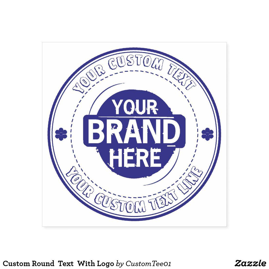 Custom Round Text With Logo Selfinking Stamp