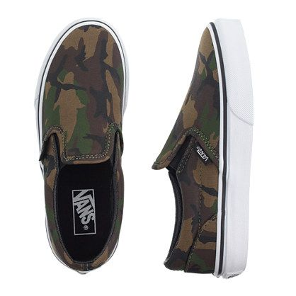 275a03399e J.Crew - Kids  Vans camo slip-ons love having small feet!