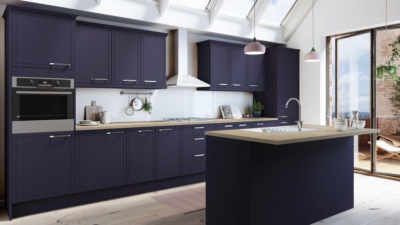 Newbury Midnight Kitchen Units Cabinets Magnet Kitchens Blue Kitchen Designs Kitchen Design Kitchen Units