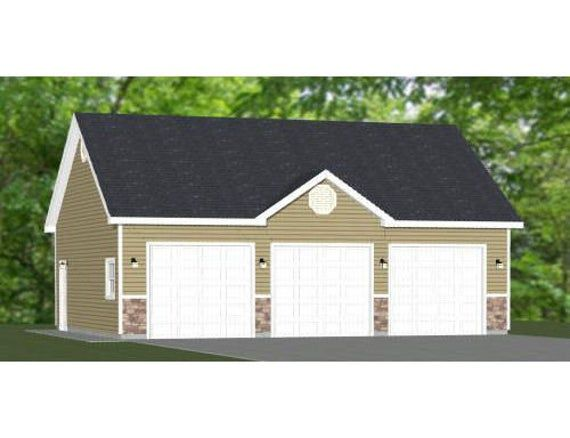 36x28 2 Car Garages 1008 Sq Ft 10ft Walls Pdf Floor Etsy In 2020 Garage Floor Plans Garage Plans Roof Styles