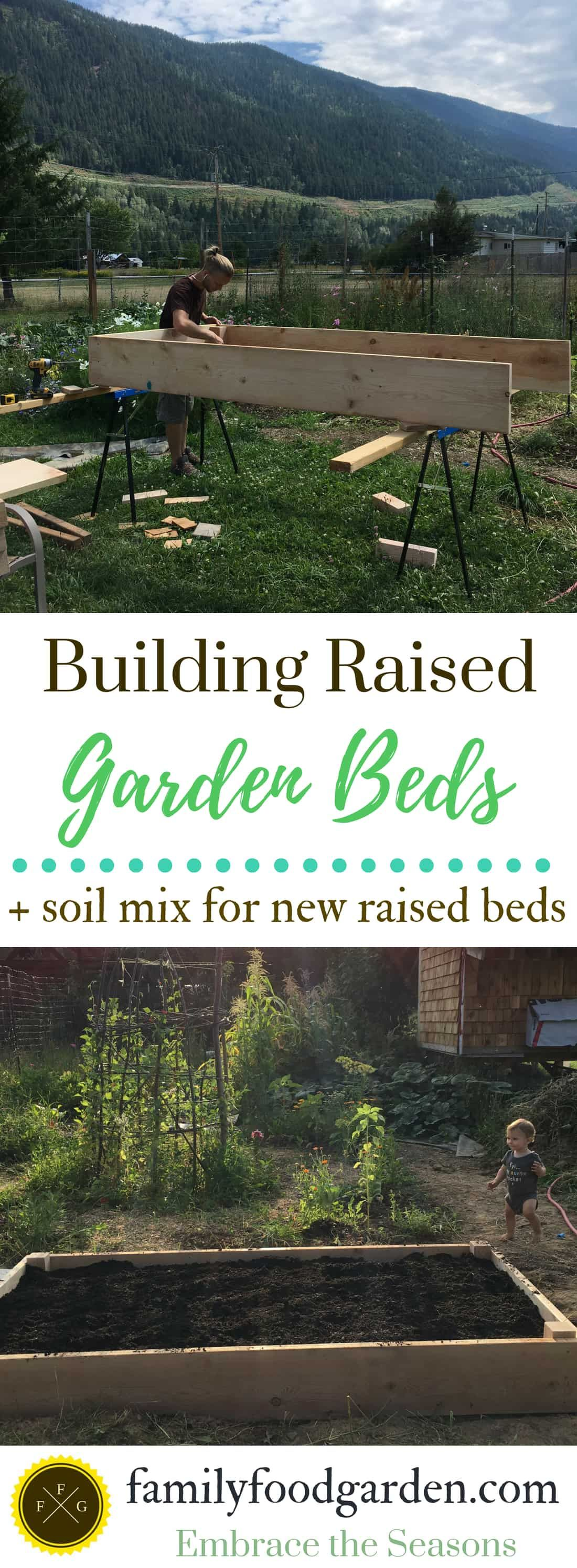 Building Raised Garden Beds & Soil Mix Raised garden bed
