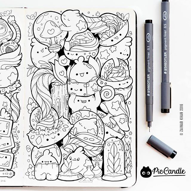 What S The Best Thing That Happened To You In 2016 Quitting My Job To Be A Full Time Doodle Artist Was Doodle Art Designs Doodle Drawings Coloring Book Art