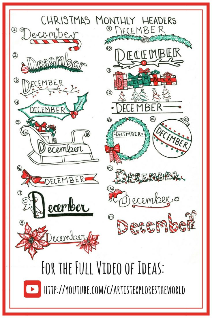 December Versiering Bullet Journal Christmas Bullet Journal Doodles December Bullet Journal
