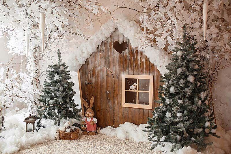 оформление лесного домика новогоднее фото современную