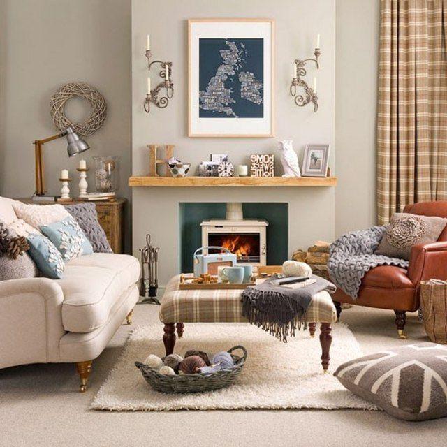 #Dekoration İdeen Winter Wohnzimmer Dekoration   20 Ideen Für Ihren  Kompletten Komfort! #Winter