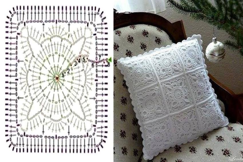 diagrama para realizar este esplendido almohadon