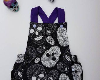 75e9499b2 Take Home Baby Outfit, Neutral Gender New Born Clothing, Mexican Skulls Baby  Onesie, Kids Summer Romper