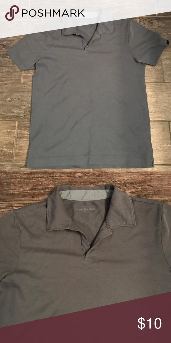 Gray polo Calvin Klein Polo from Calvin Klein Calvin Klein Jeans Shirts Polos